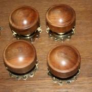 Set 4 pairs timber handles