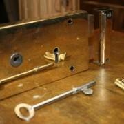 Brass rim lock