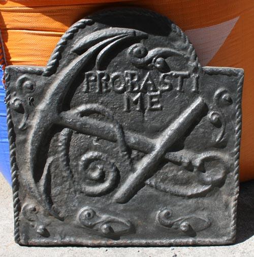 Cast iron fireback