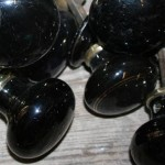 Black ceramic handles