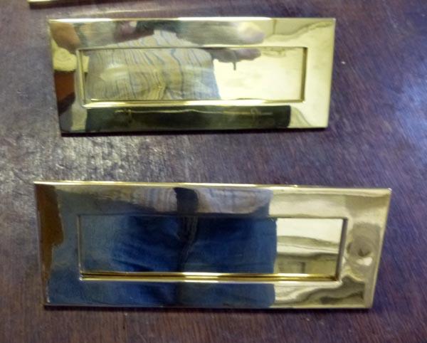 Pair letter plates