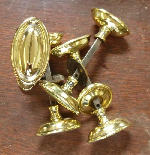 Set 4 brass Regency style