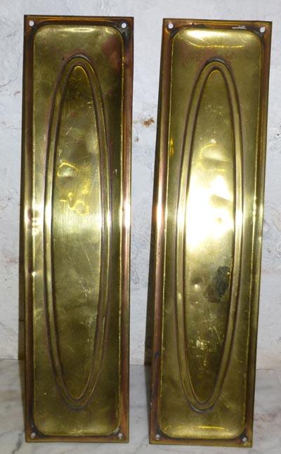 Pr brass finger plates