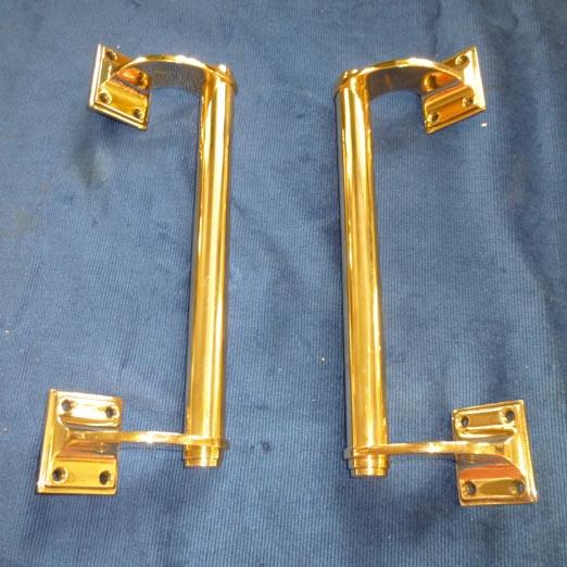 Pr brass door pulls