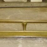 Victorian brass fender