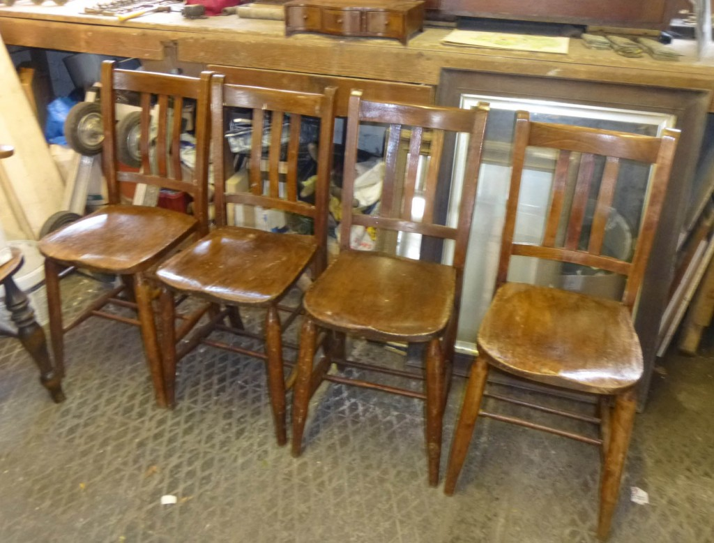 Set 4 chapel chairs