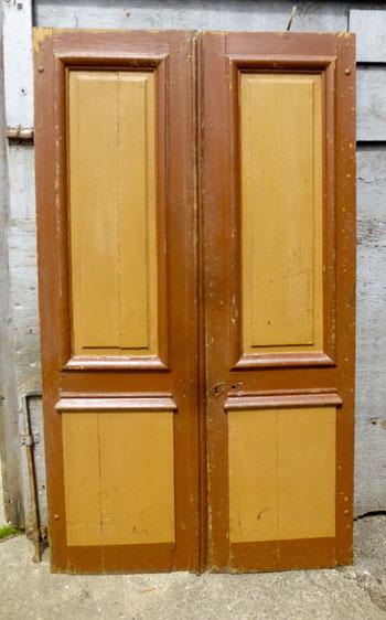 Pair of 18th C oak doors