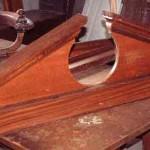 Pair mahogany bookcase or door pediments