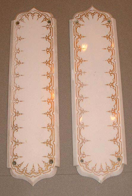 Pair porcelain finger plates
