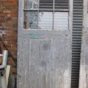 Massive pair of pine glazed doors