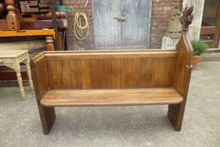 Gothic Style Victorian Oak Pew
