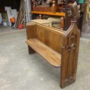 Gothic Style Victorian Oak Pew