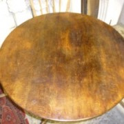 Round Victorian tilt topped oak table