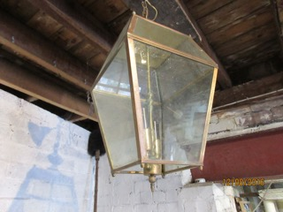 Copper Framed Hallway Light