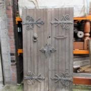 Rare Pair of Oak Arts and Crafts Front Doors