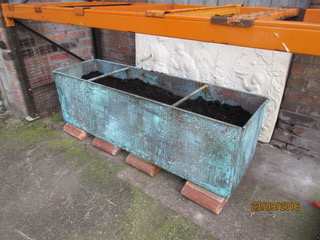 Large reproduction copper planter