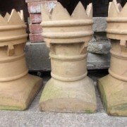 Set of 4 crown buff chimney pots in very good condition. Each one cost