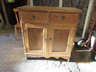Pine kitchen cupboard