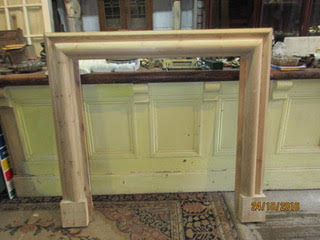 Bolection moulded pine fire surround