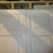 Painted Mahogany Fielded Panel Doors
