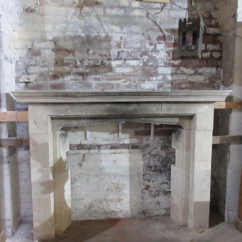Large Edwardian Limestone Surround