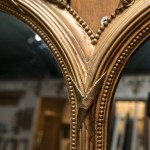 Oak half glazed door