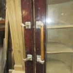 Pair mahogany glazed doors