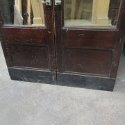 Pair mahogany glazed doors