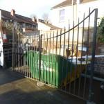 Pair wrought iron driveway gates