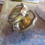 Brass centre door pull