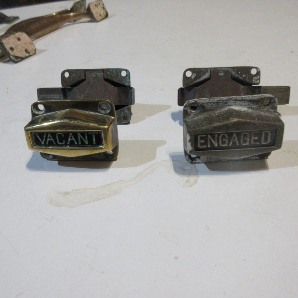 Brass vacant - engaged lock