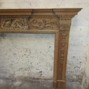 Carved pine surround