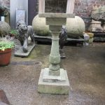 Limestone bird bath