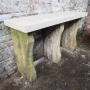 Limestone consul table